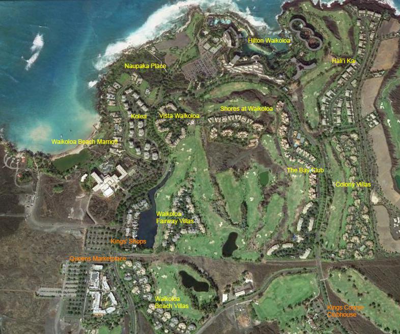 Waikoloa Beach Resort Map